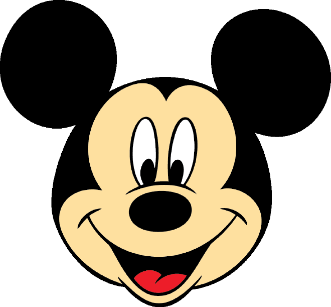 Mickey Mouse Face - Cliparts.co