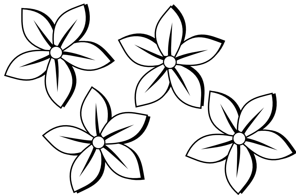 Simple Flower Clipart Black And White | Clipart Panda - Free ...