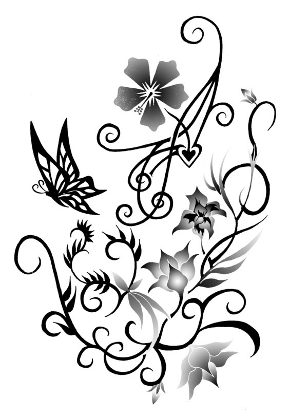 Possible Flower Tattoo for Kat by blahsunday on deviantART