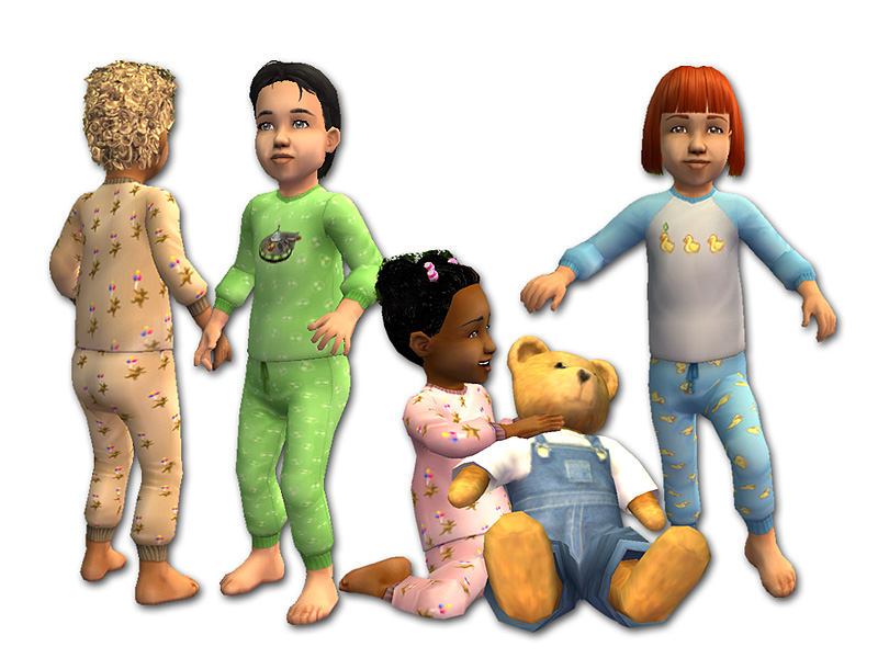 Mod The Sims - Two-Piece Pajamas for Toddlers - *FIXED July 1, 2010