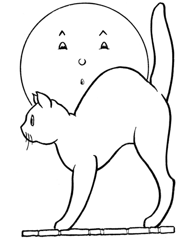 holloween moon coloring pages - photo#8