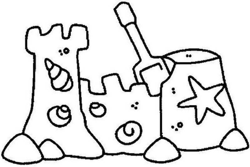 Sand Castle Drawing Cliparts Co Sandcastle Coloring Page