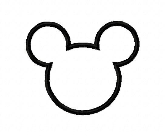 mickey mouse head shape template - printable mickey mouse head