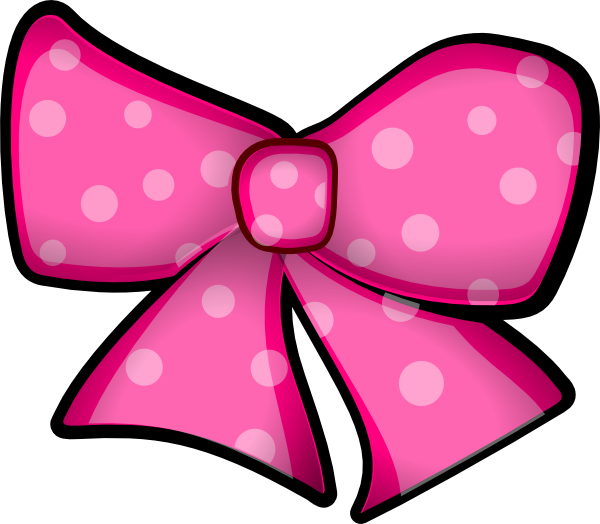 Free Pink Bow Clip Art