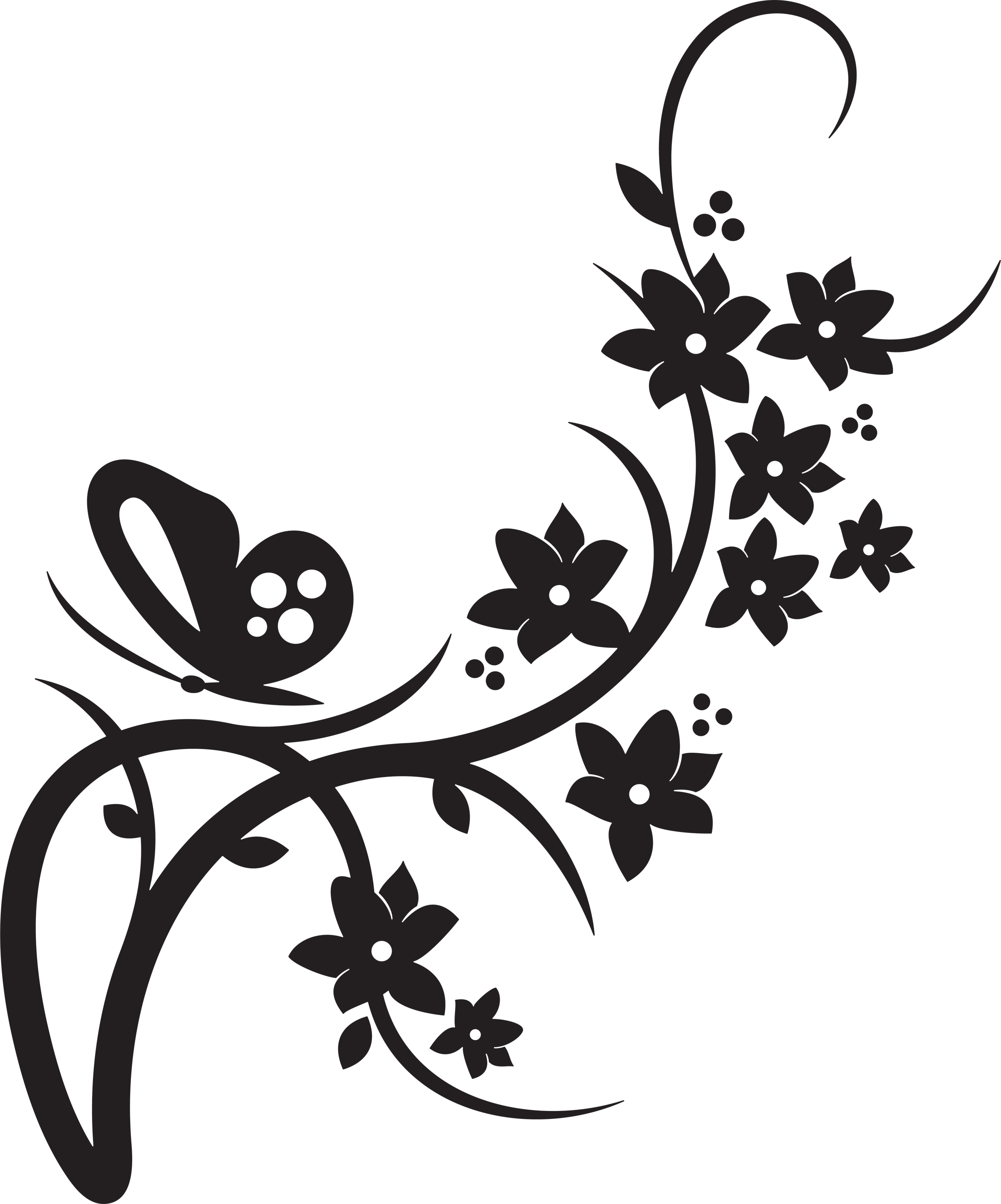 Flower Bouquet Clipart Black And White