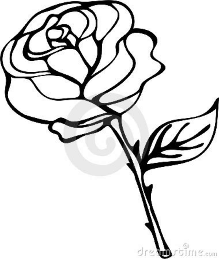 clipart roses black and white - photo #3