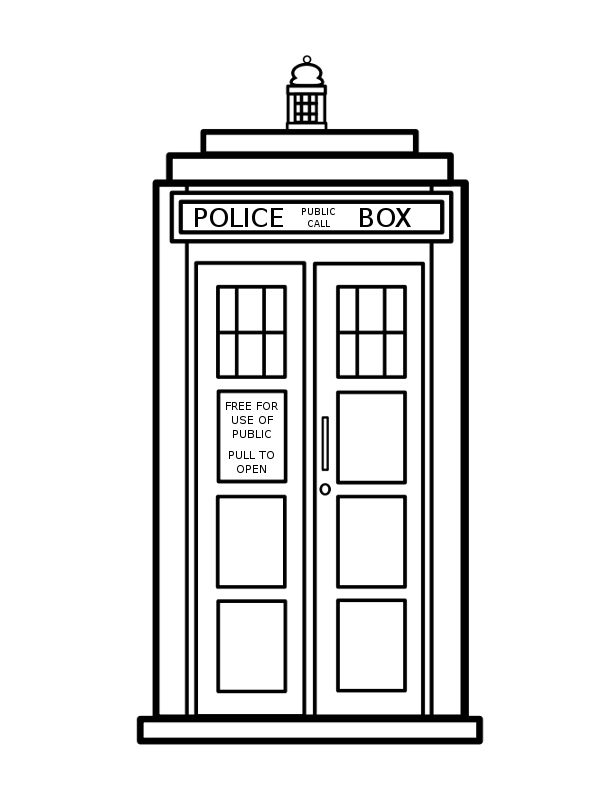 Redneck coloring pages for Doctor who tardis coloring pages