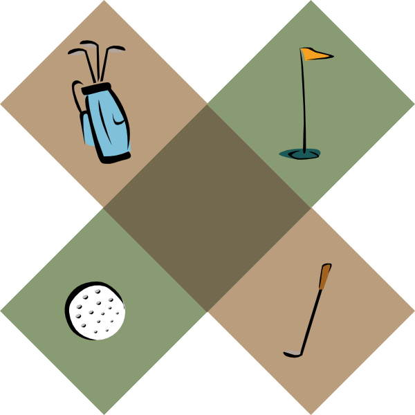 Golf Symbols clip art - vector clip art online, royalty free ...