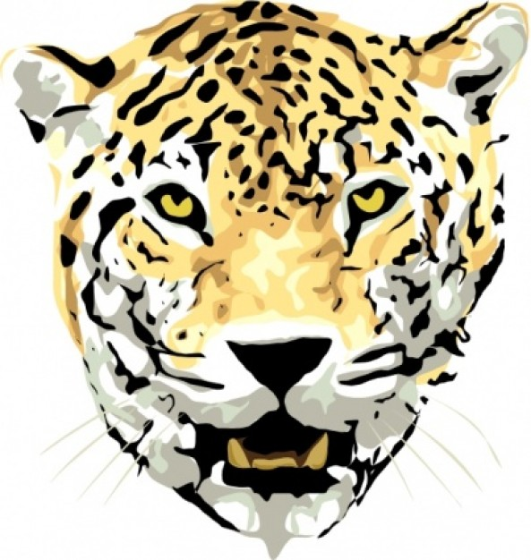 Jaguar clip art Vector | Free Download