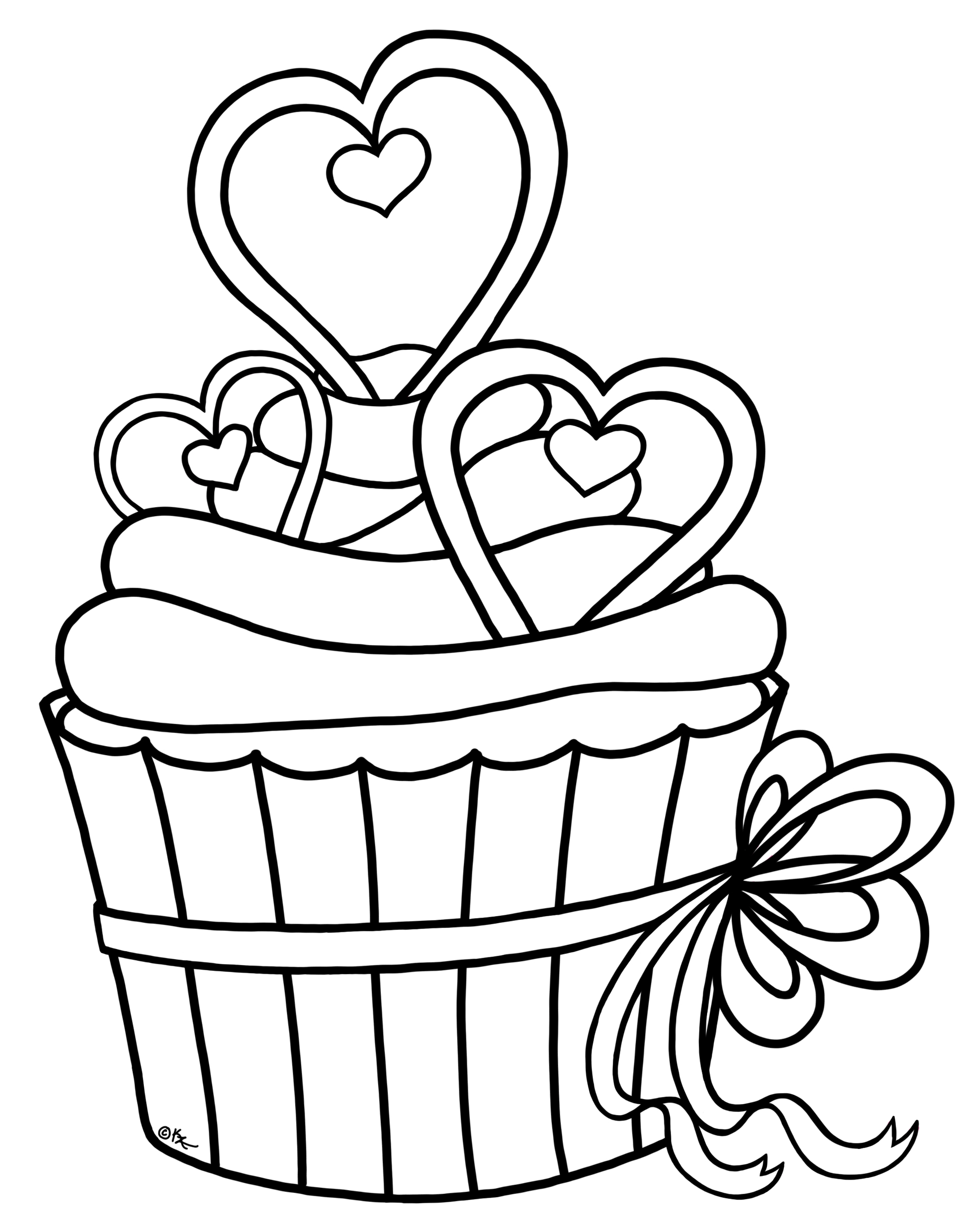 Images For > Cupcake Outline Sketch