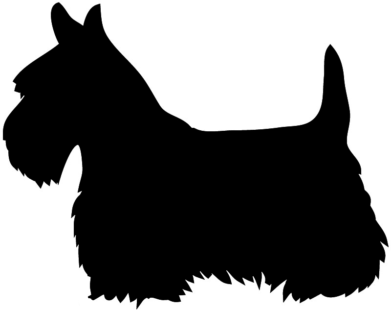 Dog Silhouette Scottie Dog Sitting Silhouette