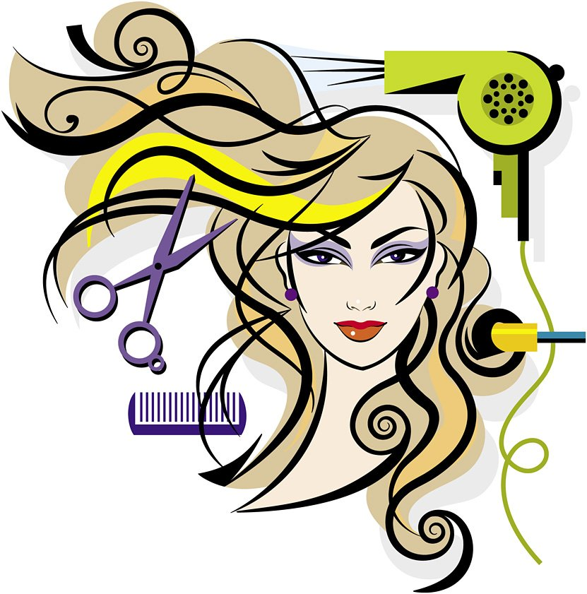 Image result for hair and beauty cartoon