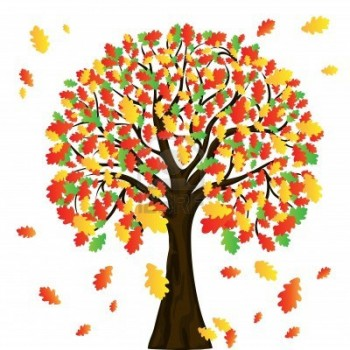 Fall Cartoon  lol-  Cartoon Fall Tree With Branches