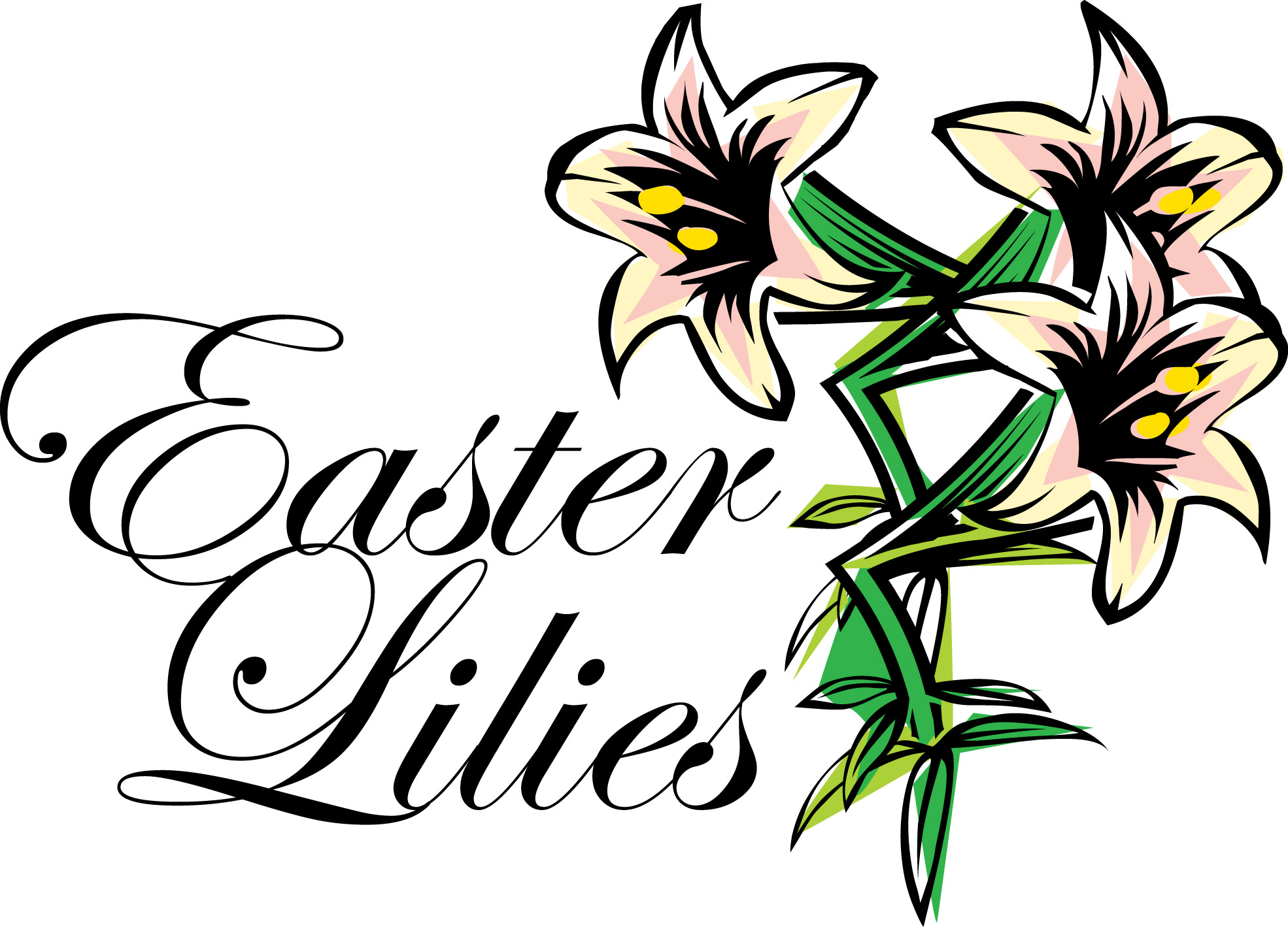 easter lilies free clipart - photo #7