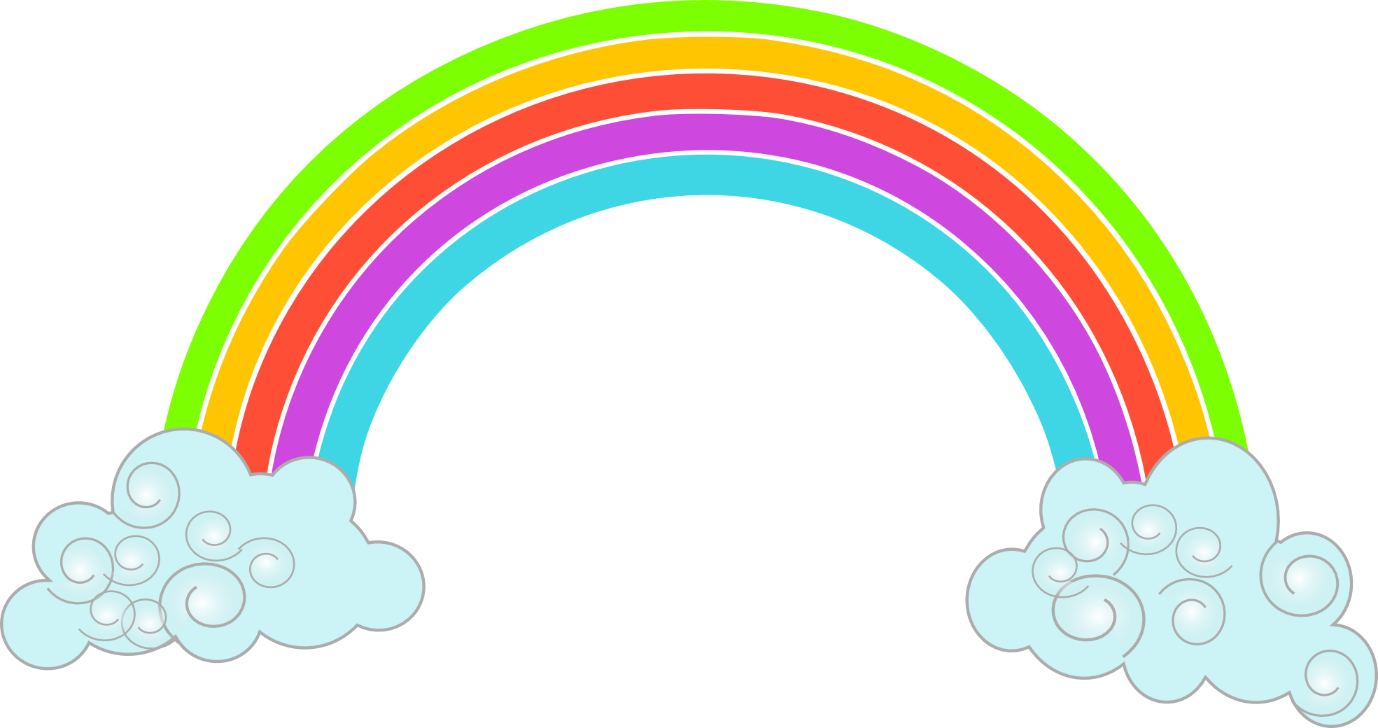 Pix For > Cartoon Rainbow Png - Cliparts.co