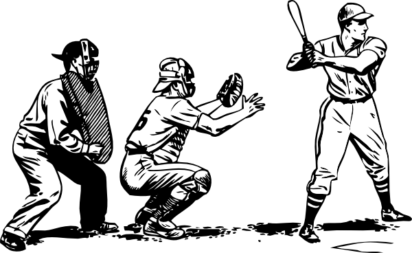 Baseball At Bat clip art Free Vector / 4Vector