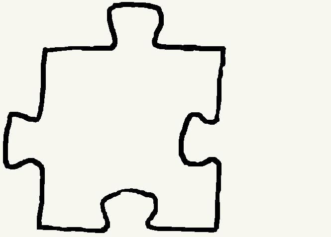 5 Piece Puzzle Template Clipartsco – Puzzle Piece Template