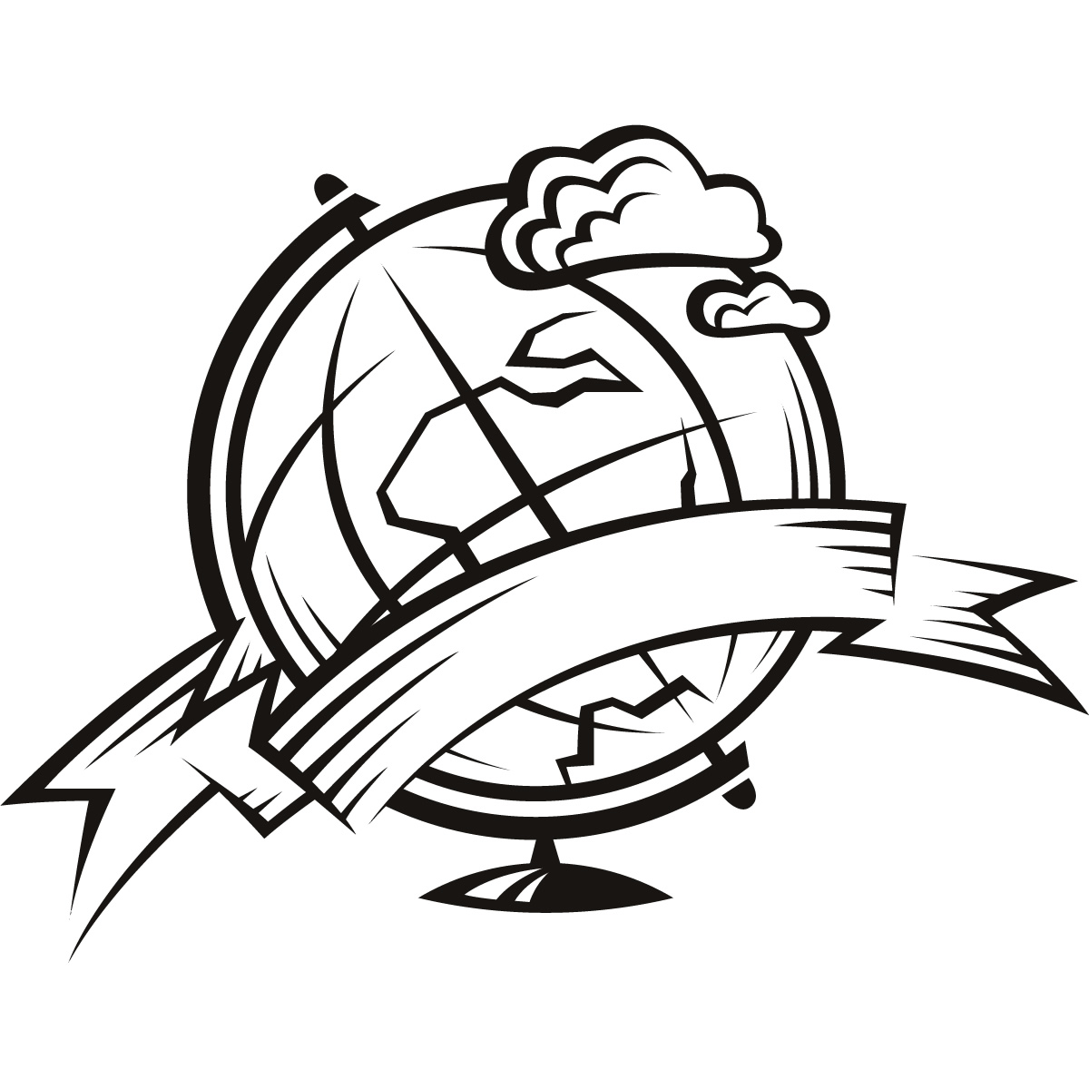 coloring pages world globe - photo#35