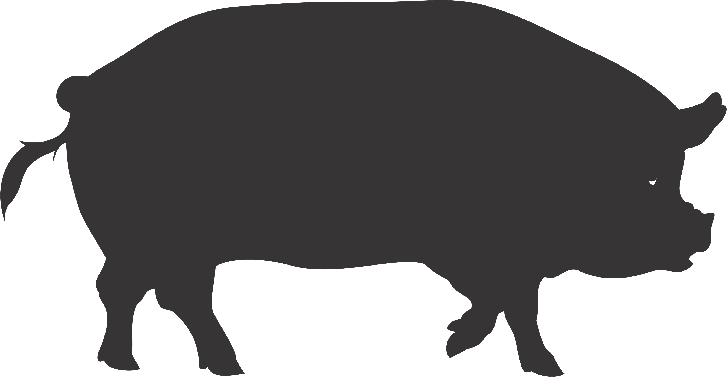 pig silhouette clip art clipartsco