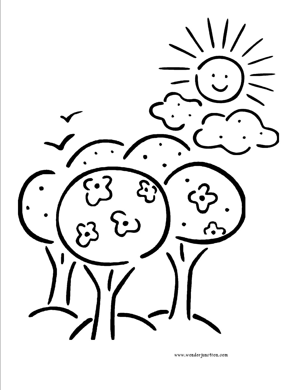 Line Drawing Sunny Day : Sunny day clip art cliparts
