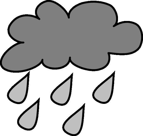 Rain Cloud clip art - vector clip art online, royalty free ...