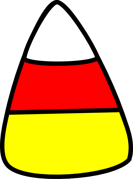 Candy Corn clip art - vector clip art online, royalty free ...