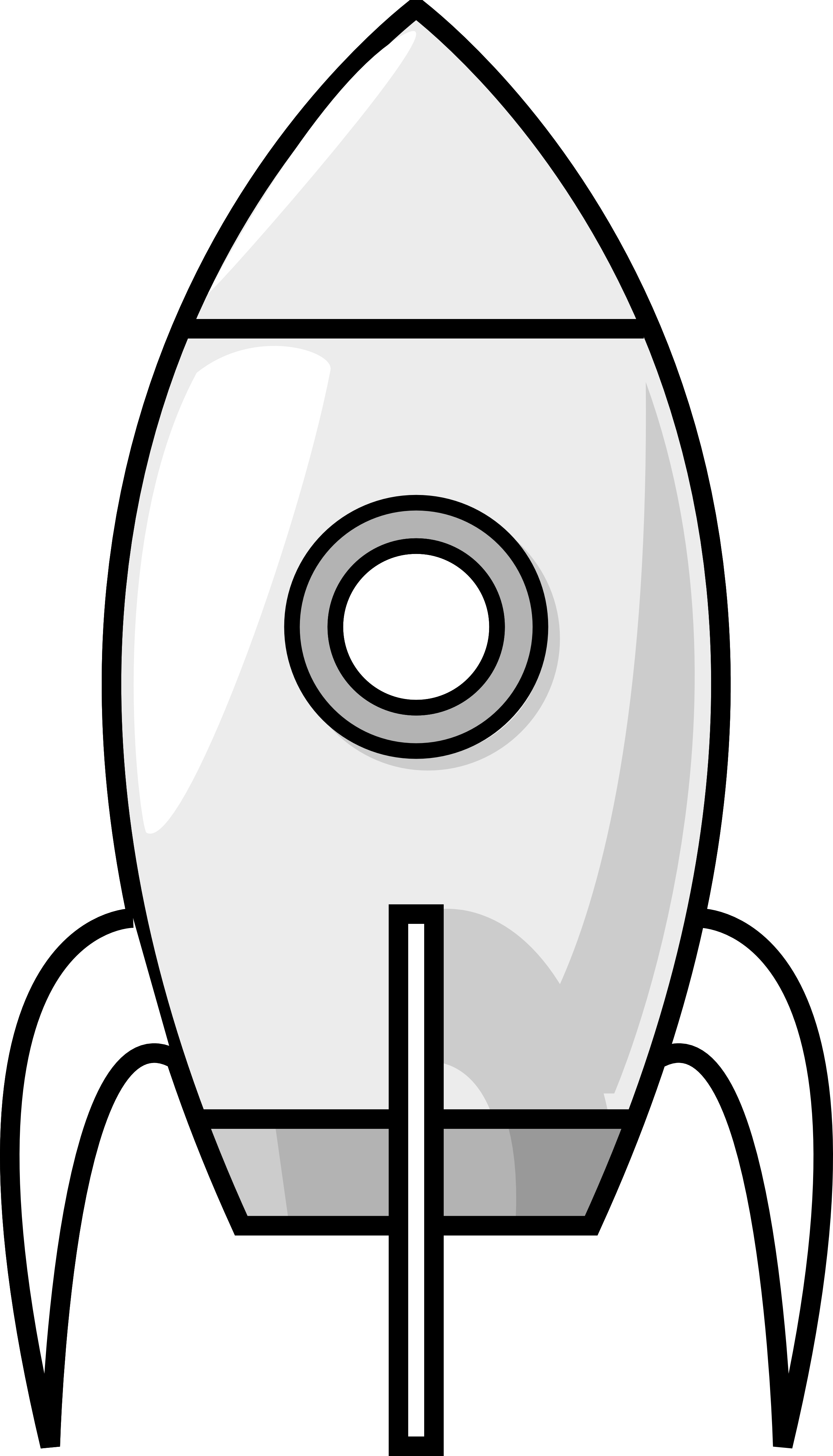 Clip Art: Purzen a Moon Rocket Black White Line ... - ClipArt Best ...