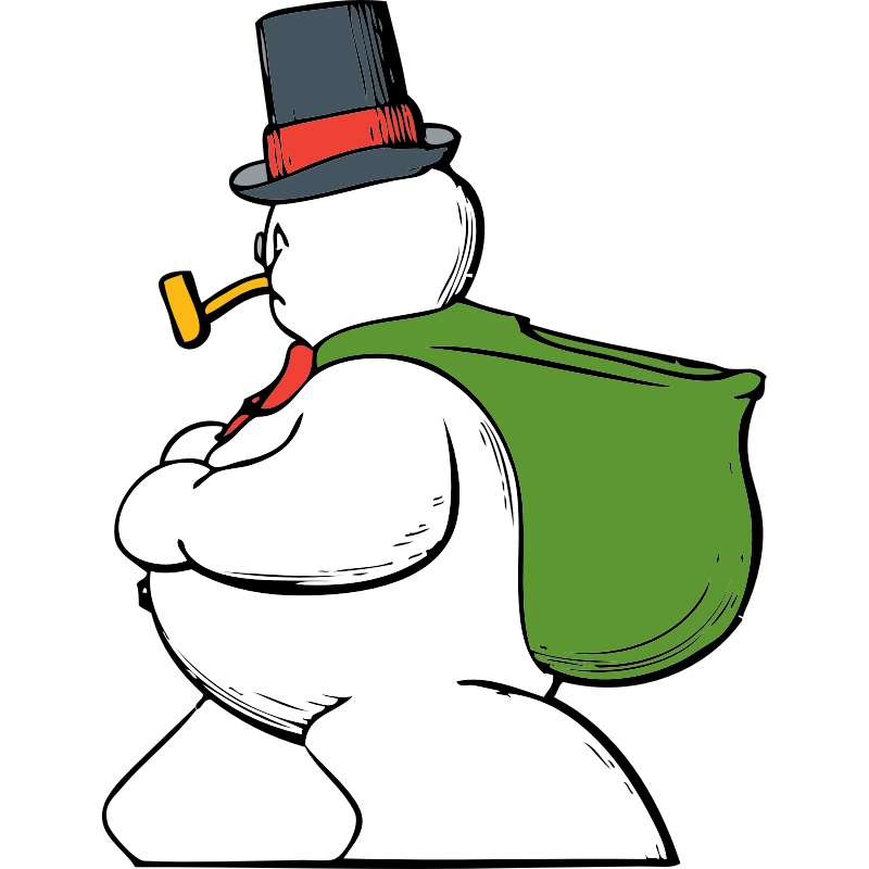 Clipart - snowman side view
