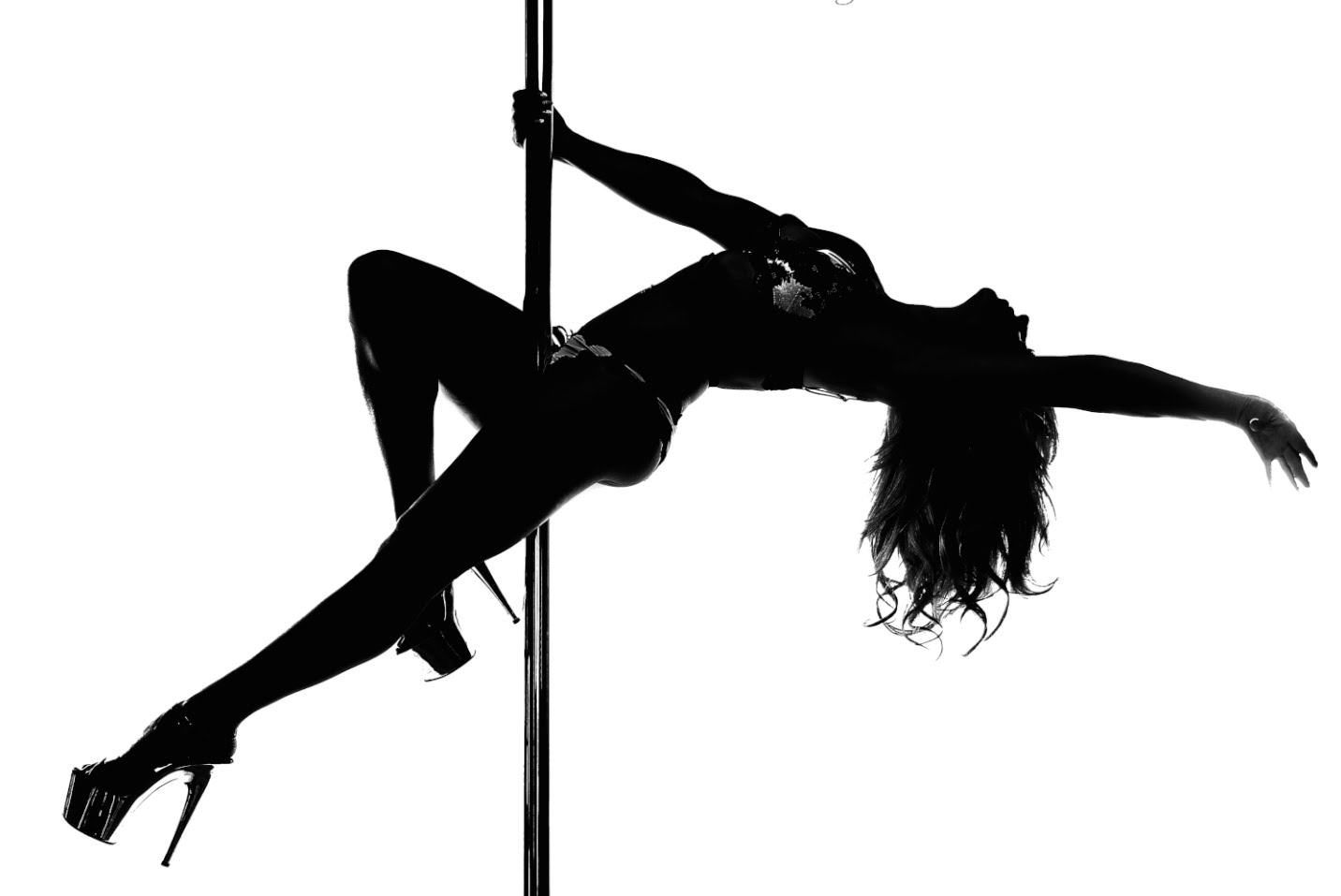 Pole bending silhouette