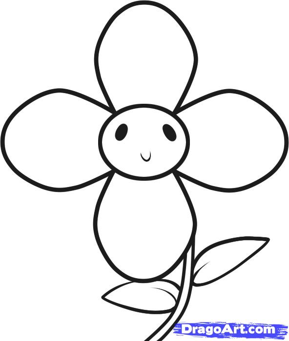 Flowers Drawing For Kids Cliparts Co