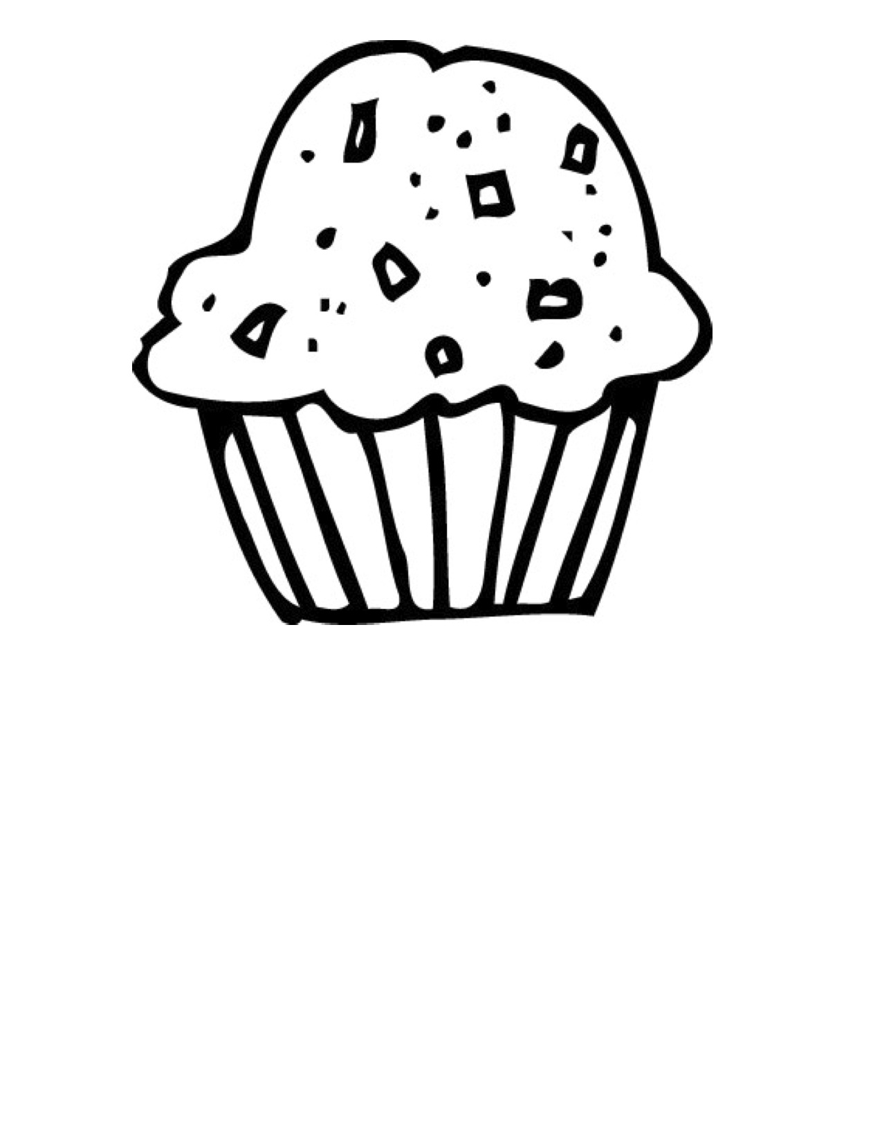 Muffin Clipart Black And White - Gallery