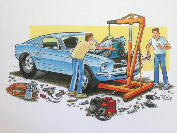 S Muscle Car Cartoon Artists