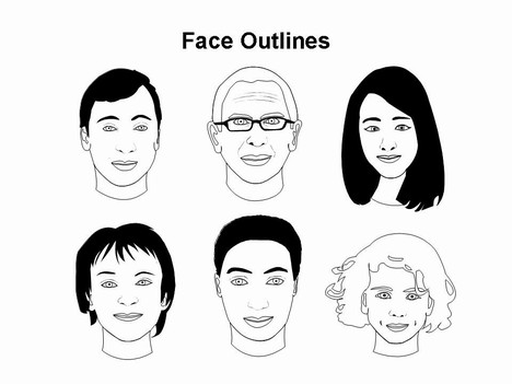 face-outlines-template- ...