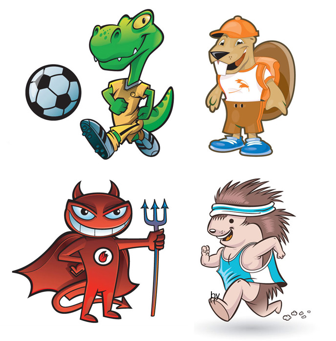Fast CharactersSoccer Mascots - Fast Characters