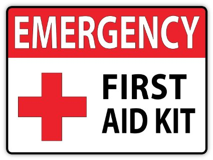 First Aid Sign on Color By Number Dog