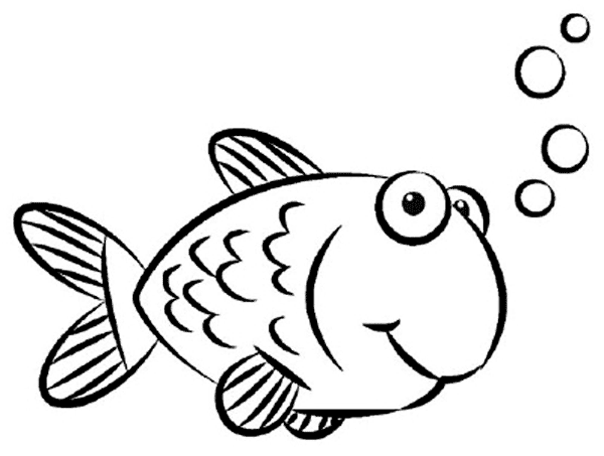 Fish Drawing For Kids - Cliparts.co