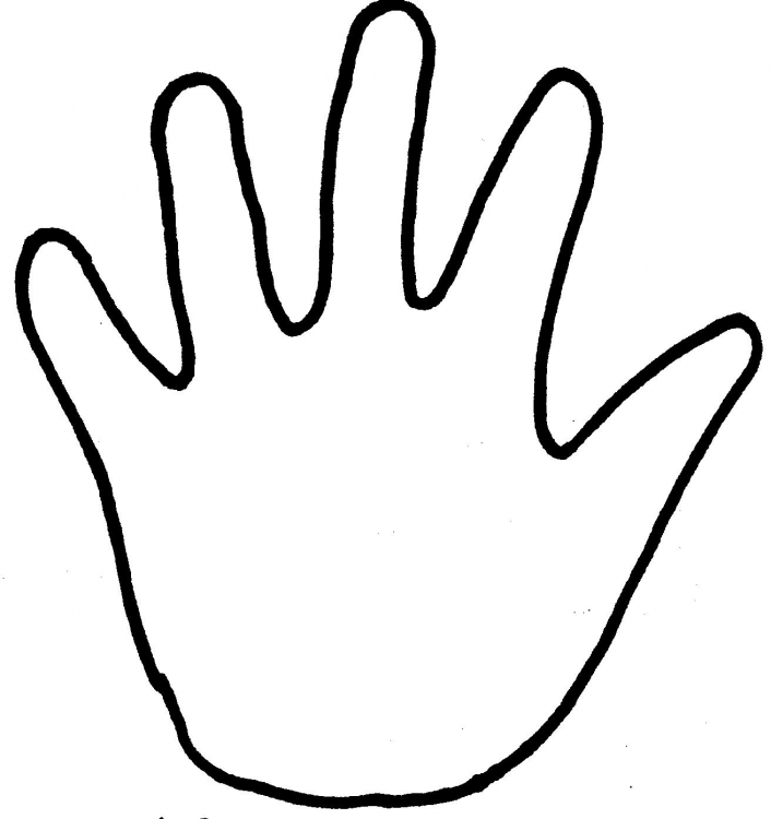 Agar Hands Kids Colouring Pages