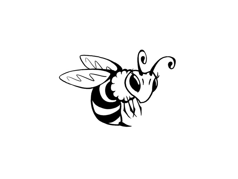 Honey Bee Clip Art Vector Online Royalty Free