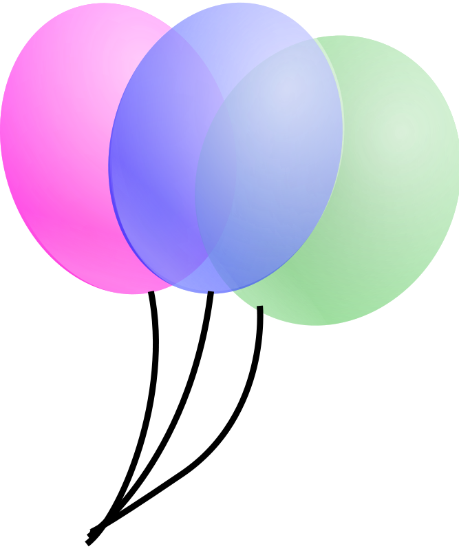 clip art free balloons and streamers - photo #1