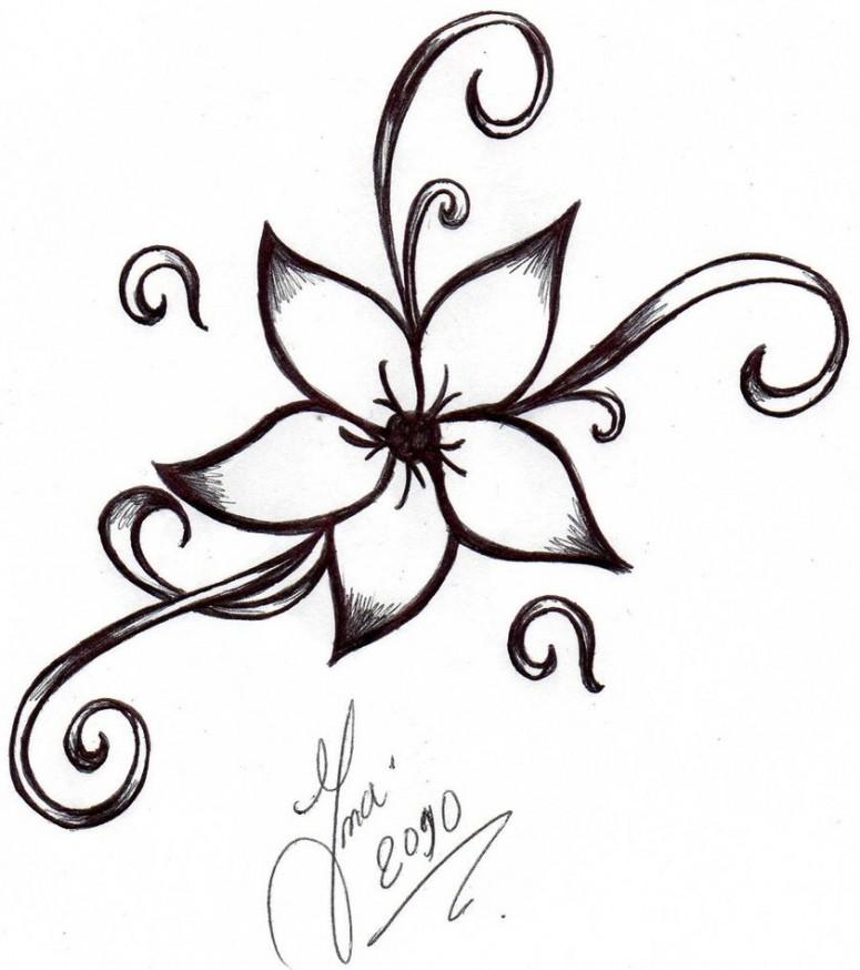 cartoon flower tattoos. Black Bedroom Furniture Sets. Home Design Ideas