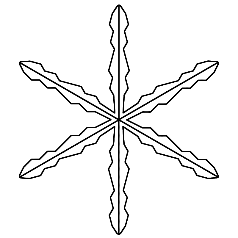 Line Drawing Snowflake : Snowflake line art cliparts