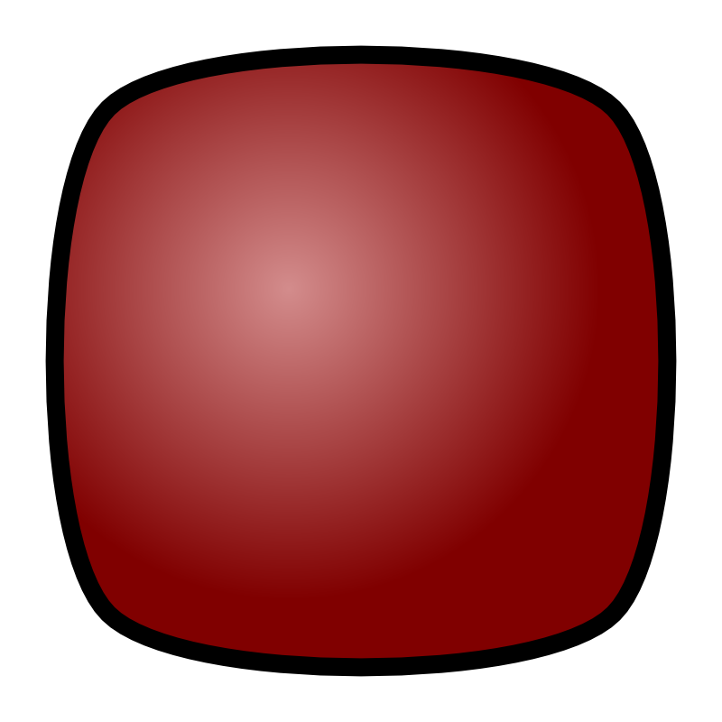 Clipart - Stop Button, red, for media player