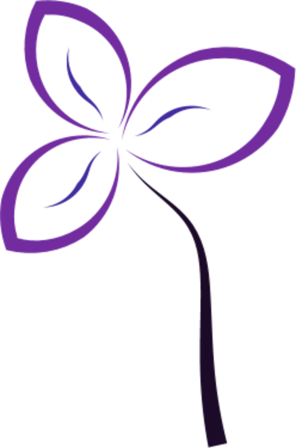 flower simple abstract - vector Clip Art