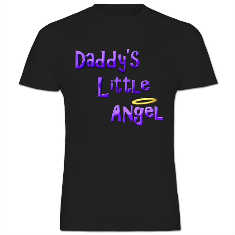 Daddy's Little Angel Kids Boy Girl T-Shirt | eBay