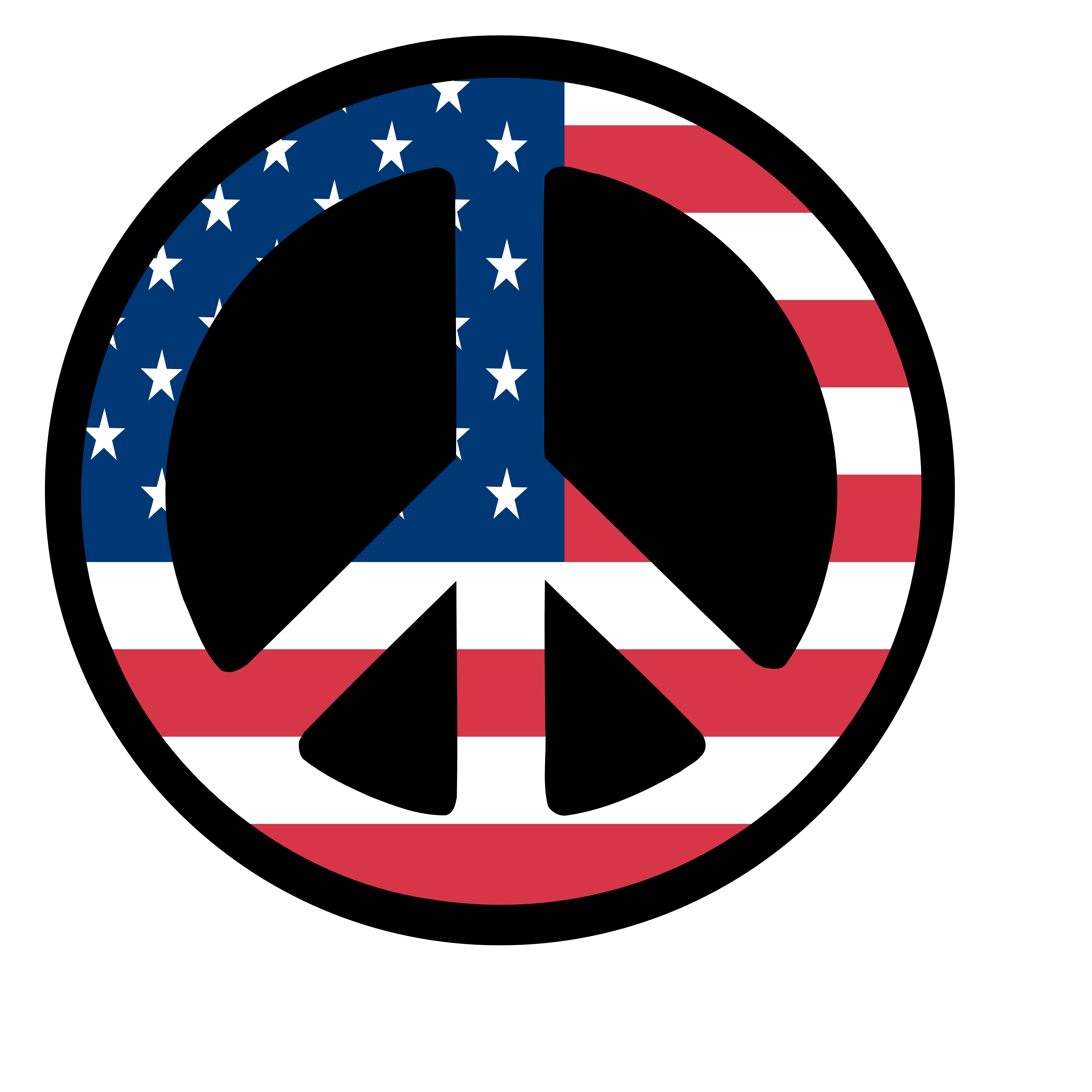 Countries us Flag Peace Sign 3 scallywag peacesymbol.org Peace ...