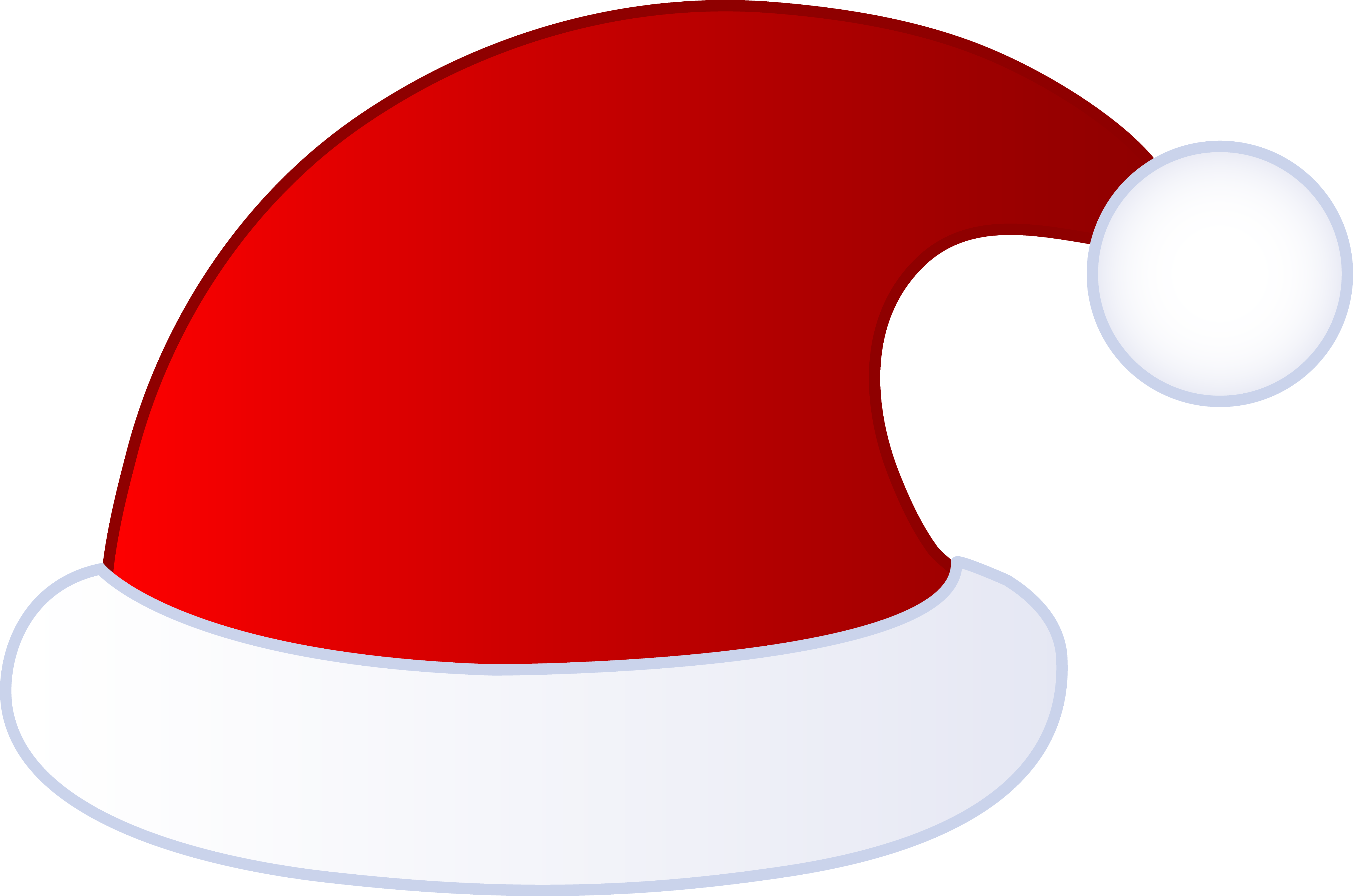 Red Santa Claus Hat - Free Clip Art