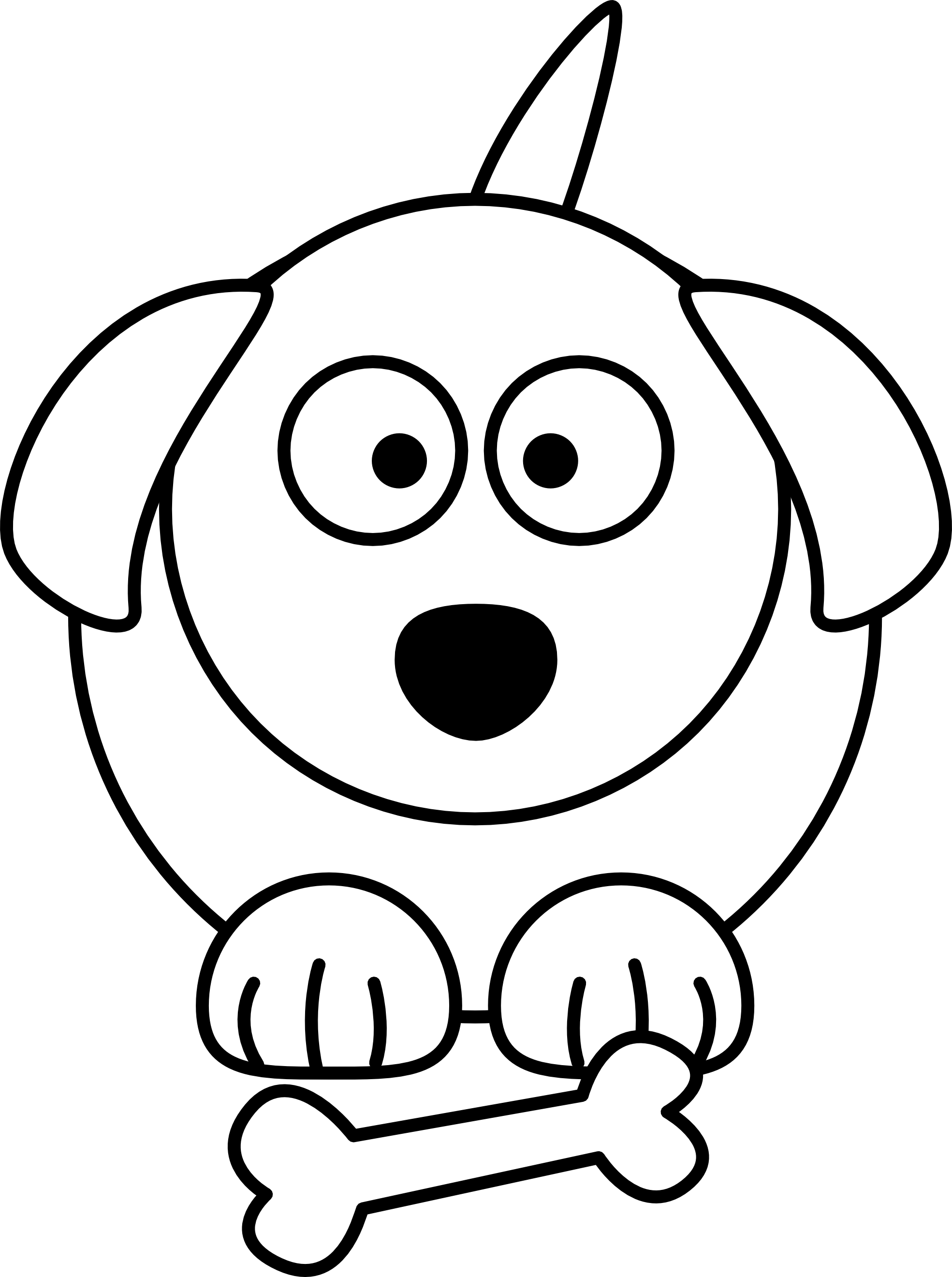 Line Drawings Of Cartoon Animals : Cartoon white dog cliparts