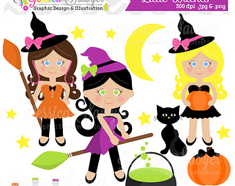 Popular items for witches clipart on Etsy