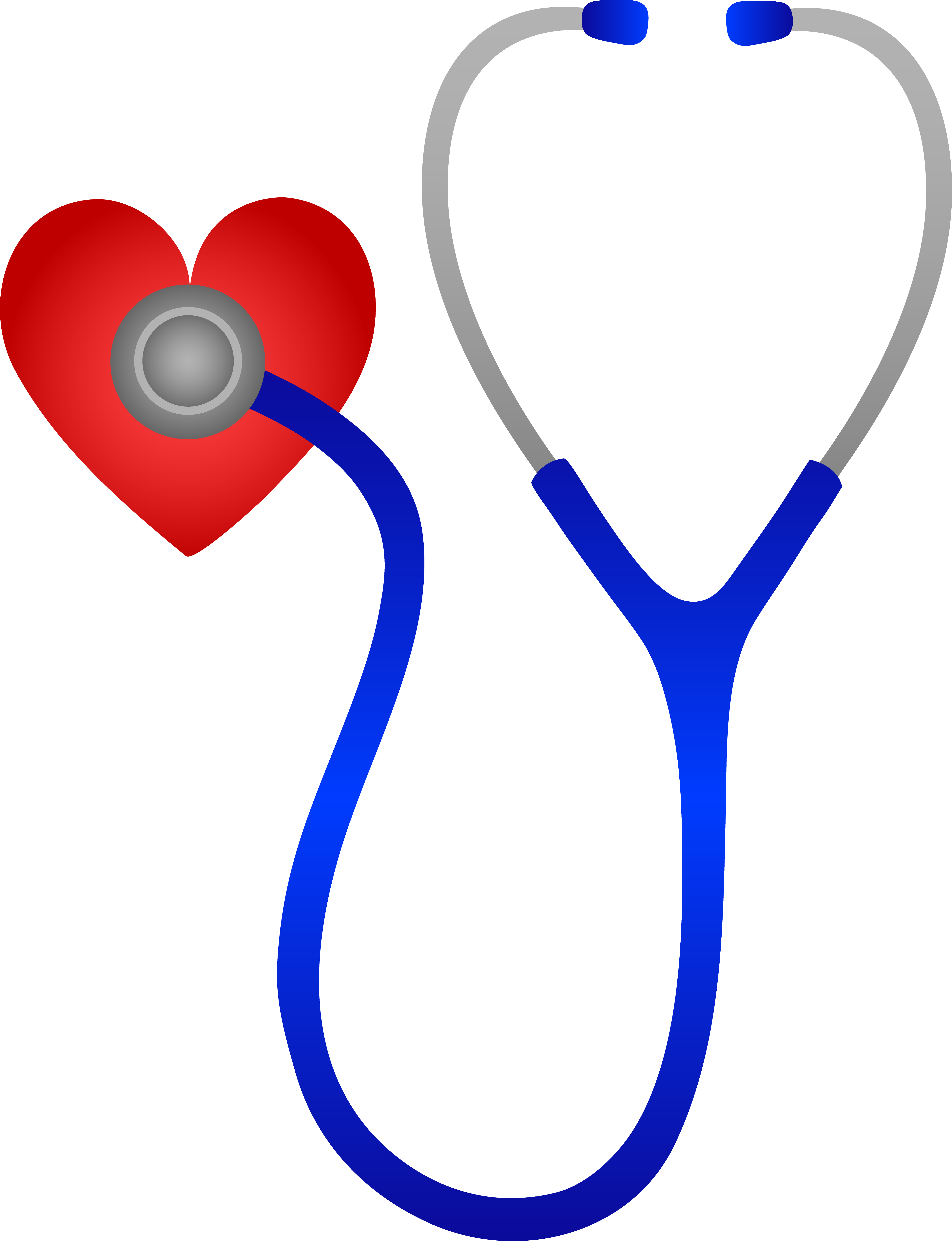 Stethoscope Listening to Heart Beat - Free Clip Art