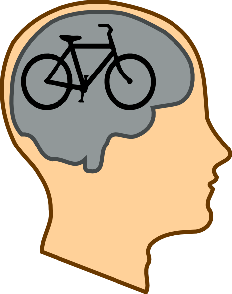Biking On The Brain clip art - vector clip art online, royalty ...